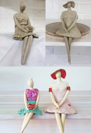 ceramicsbyiza -Sitting ladies